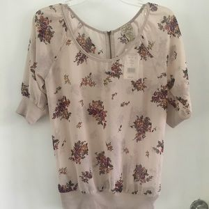Beautiful sheer floral small top